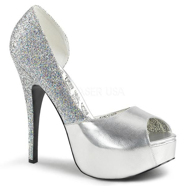 8c90d6917274 TEEZE-41W Bordello Sexy Glitter Shoes Platforms Wide Width Stiletto Heel  Shoes - Sexy Shoes - 1