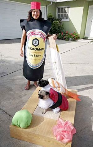 Haha Pet And Owner Sushi Combo Costume Clever Even Has Wasabi