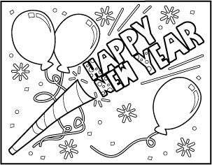 4 free printable new year s coloring pages new years pinterest