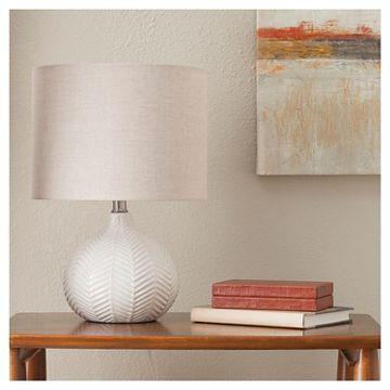 Textured Ceramic Accent Lamp Cream Threshold Ceramic Table Lamps Accent Lamp Target Home Decor