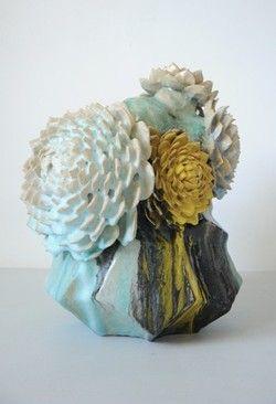 "blueberrymodern:ceramic ""flower tree"" via becollection"