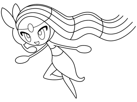 Click to see printable version of Meloetta Coloring page | LineArt ...