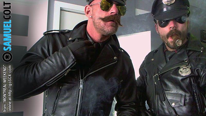 Гей leather видео