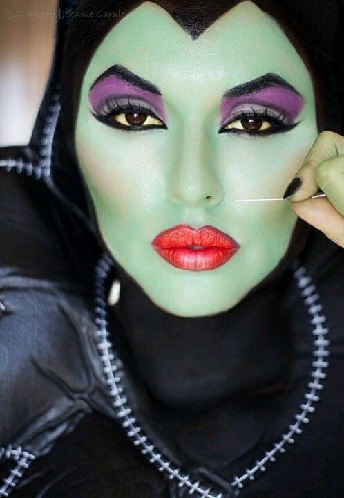 Maleficent Or Malefica In Spanish Maquillaje Pinterest - Maquillaje-bruja-para-nia
