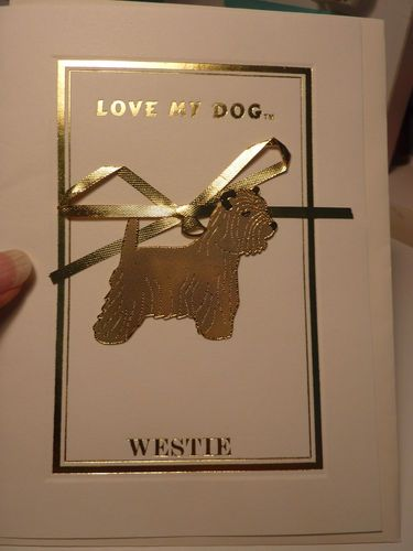 Westie metal Ornament with Card