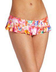 bright ruffled bikini bottom
