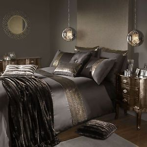 Celebrity-Designer-Kylie-Minogue-PHOENIX-Bronze-Bed-Linen-Bedding-Duvet-Cover