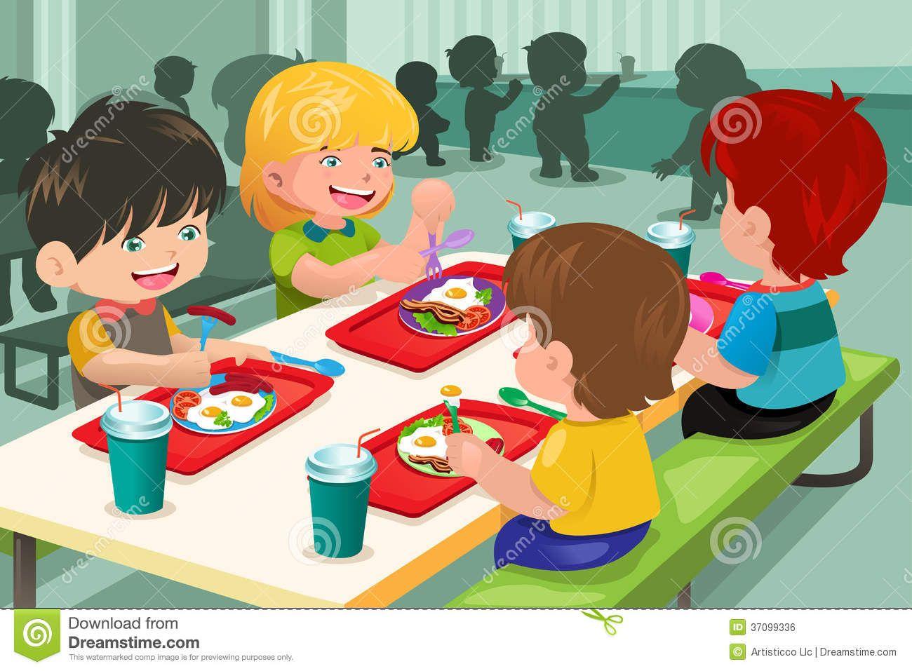 Image Result For School Cafeteria Cartoon School Cafeteria