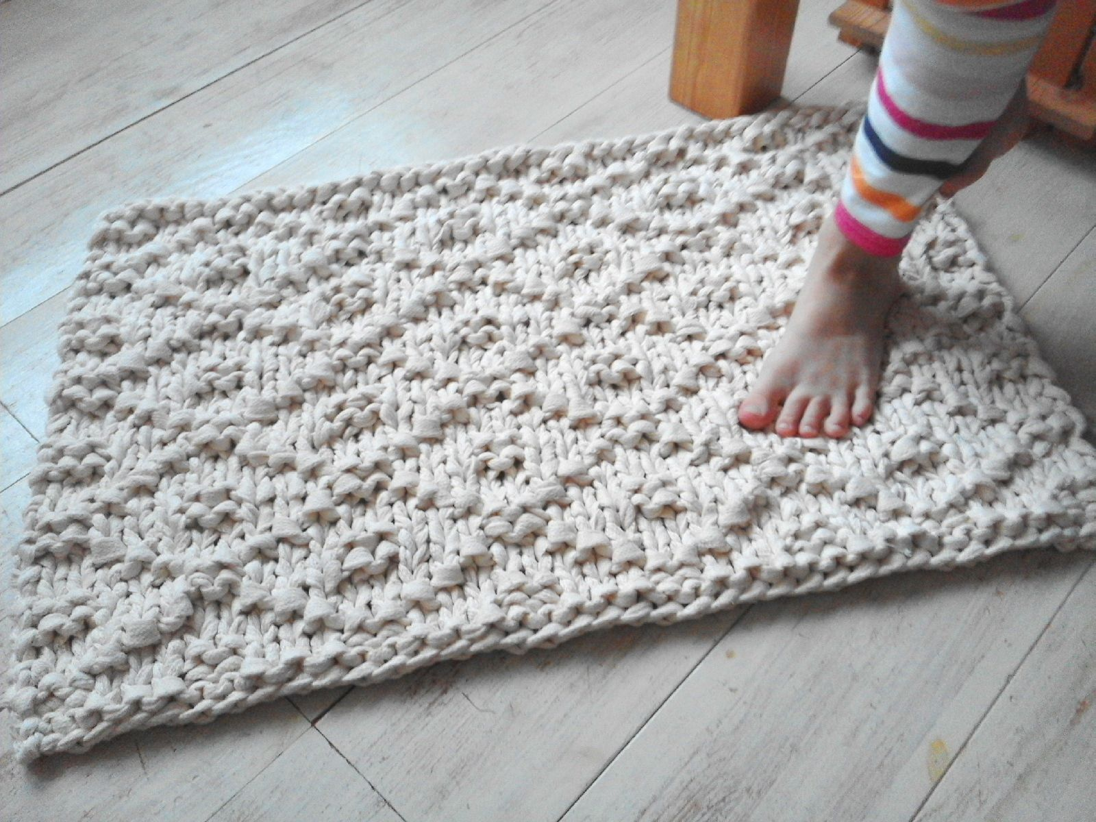 Knit Bath Rug Mat From Elitai My Works Crochet Mat