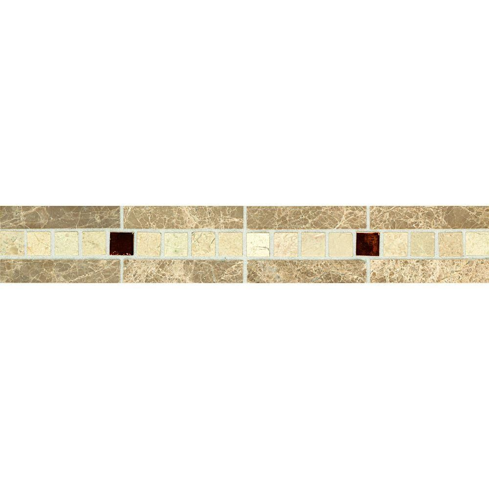 Tile Decorative Accents Daltile Stone Decorative Accents Copper Mystery 178 Inx 12 In