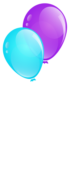 blue and purple balloons clip art