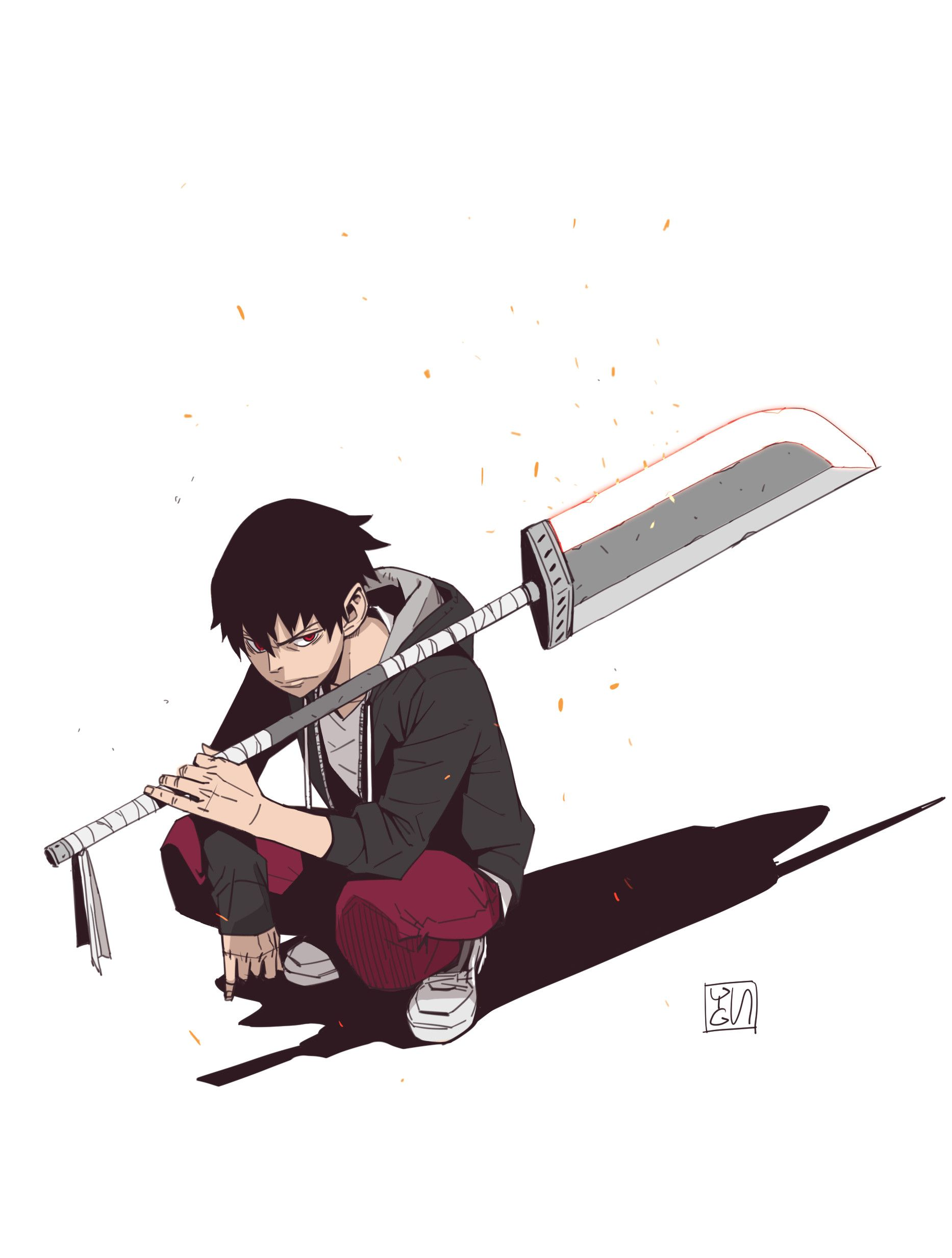 Swordsman by YUNGUN Y on ArtStation. Anime character