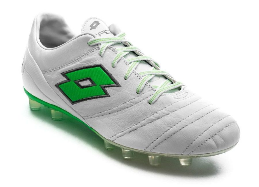 finest selection 60c1b 905d9  footballboots Lotto Stadio 45 FG - White   Mint Fluo