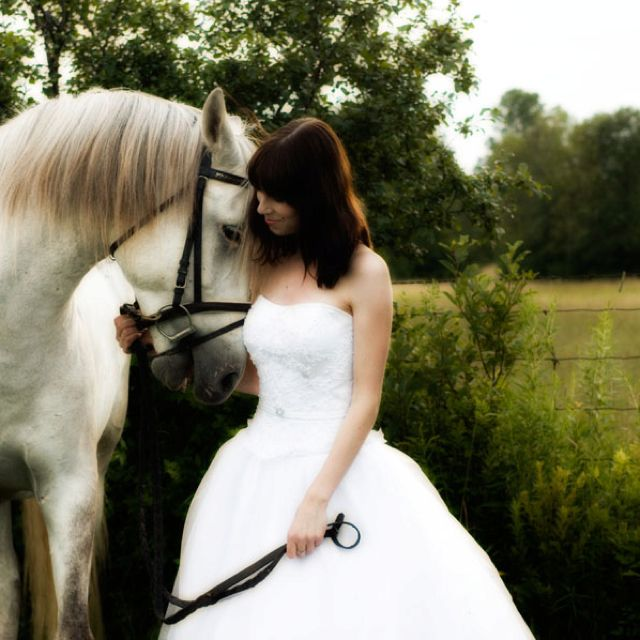 Horse And Bride Wedding Picture Pferde Hochzeit Braut Portraits Brautfotos