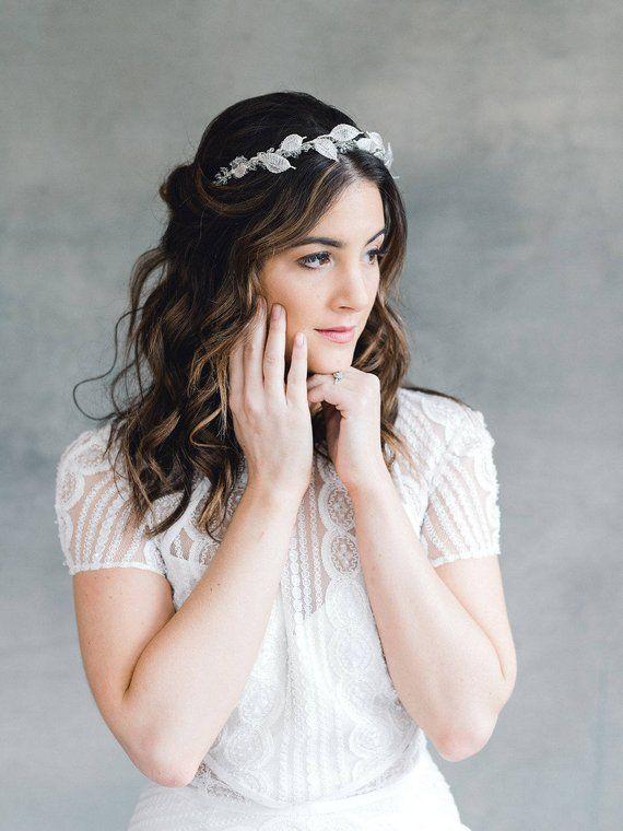 Bridal Crown, Flower Crown, Wedding Headpiece, Wedding Crown, Bridal Headpiece, Bridal Hairvine, Wed #weddingcrown