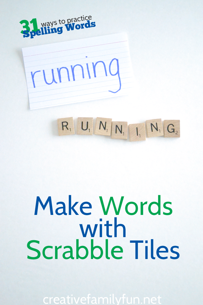 Make Words With Scrabble Tiles  Scrabble Tiles Spelling Words