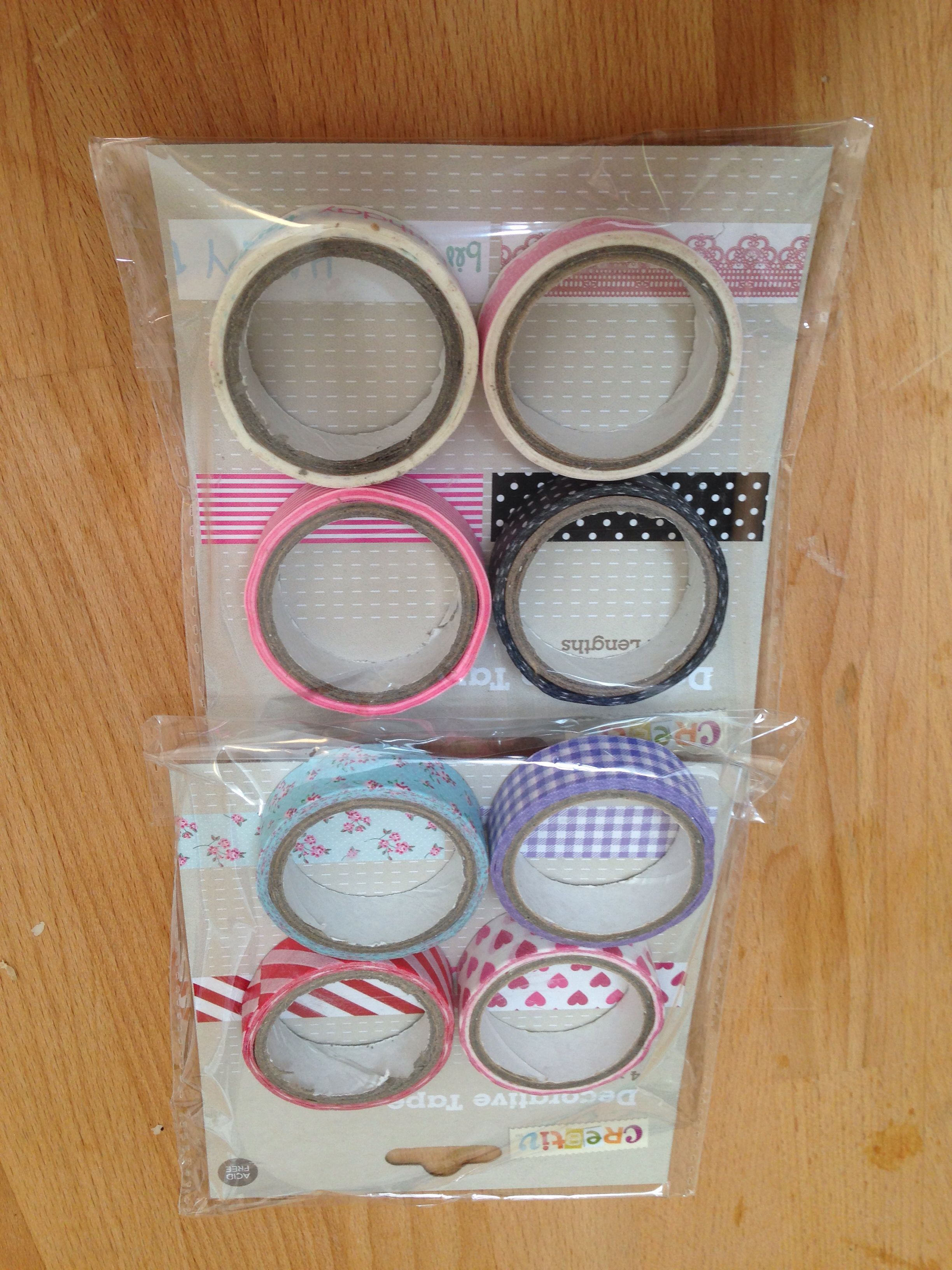 Washi tape from Kmart Australia. 3 per pack. Each roll is