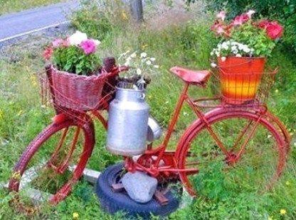 Belles idées récup et déco pour le jardin !   Jardin : déco, trucs ...