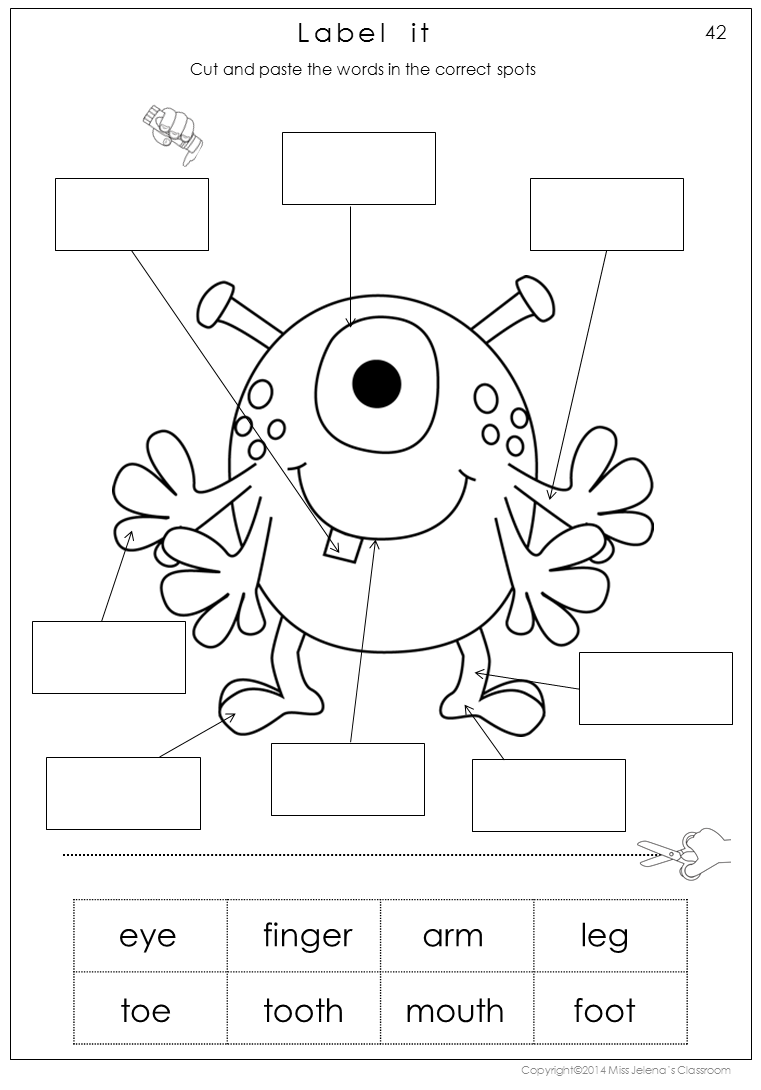 worksheet My Body Worksheets For Grade 1 my body parts math and literacy worksheets includes 38 in color in