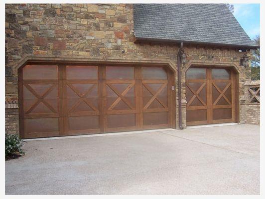 Copper Clad Garage Door With Cedar Overlay Garage Doors Exterior Remodel Garden Design Plans