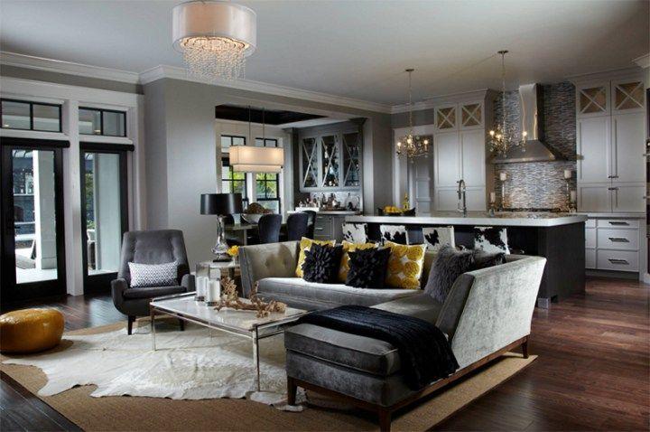 slate grey sofa living room decor Home Dcor Ideas for Living Room