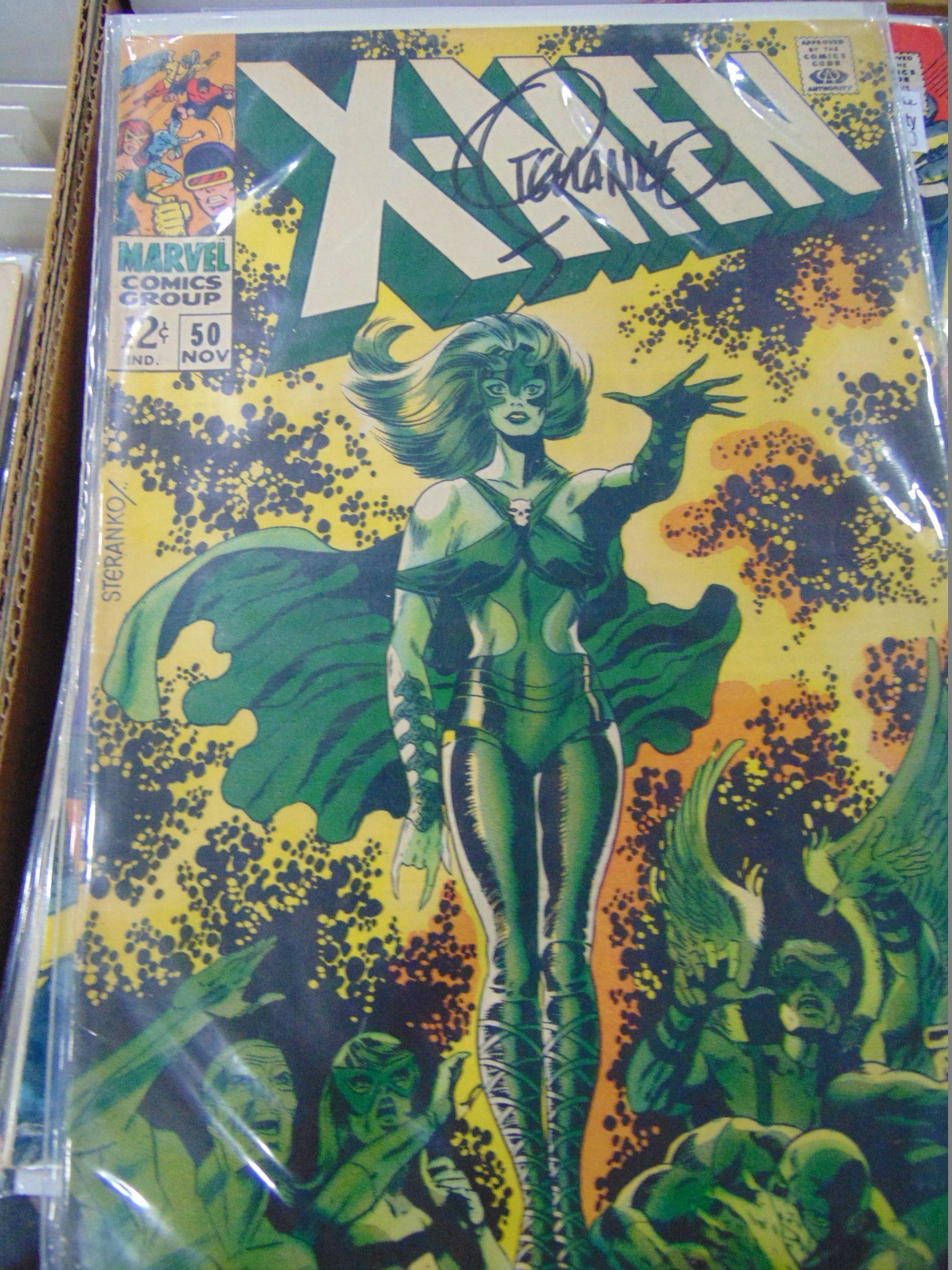 Uncanny X Men 50 Signed By Jim Steranko Polaris Cover Jim Steranko Comic Book Artists Silver Age Comics