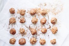 Energy Almond Butter Balls from the Society (Nutrition Stripped)