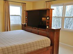 Hidden Tv Television Bedroom Bed Master Bedroom