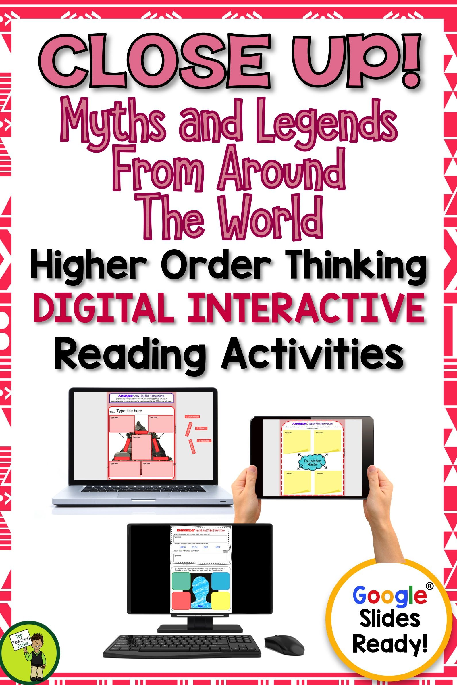Myths And Legends Digital Reading Comprehension Activity