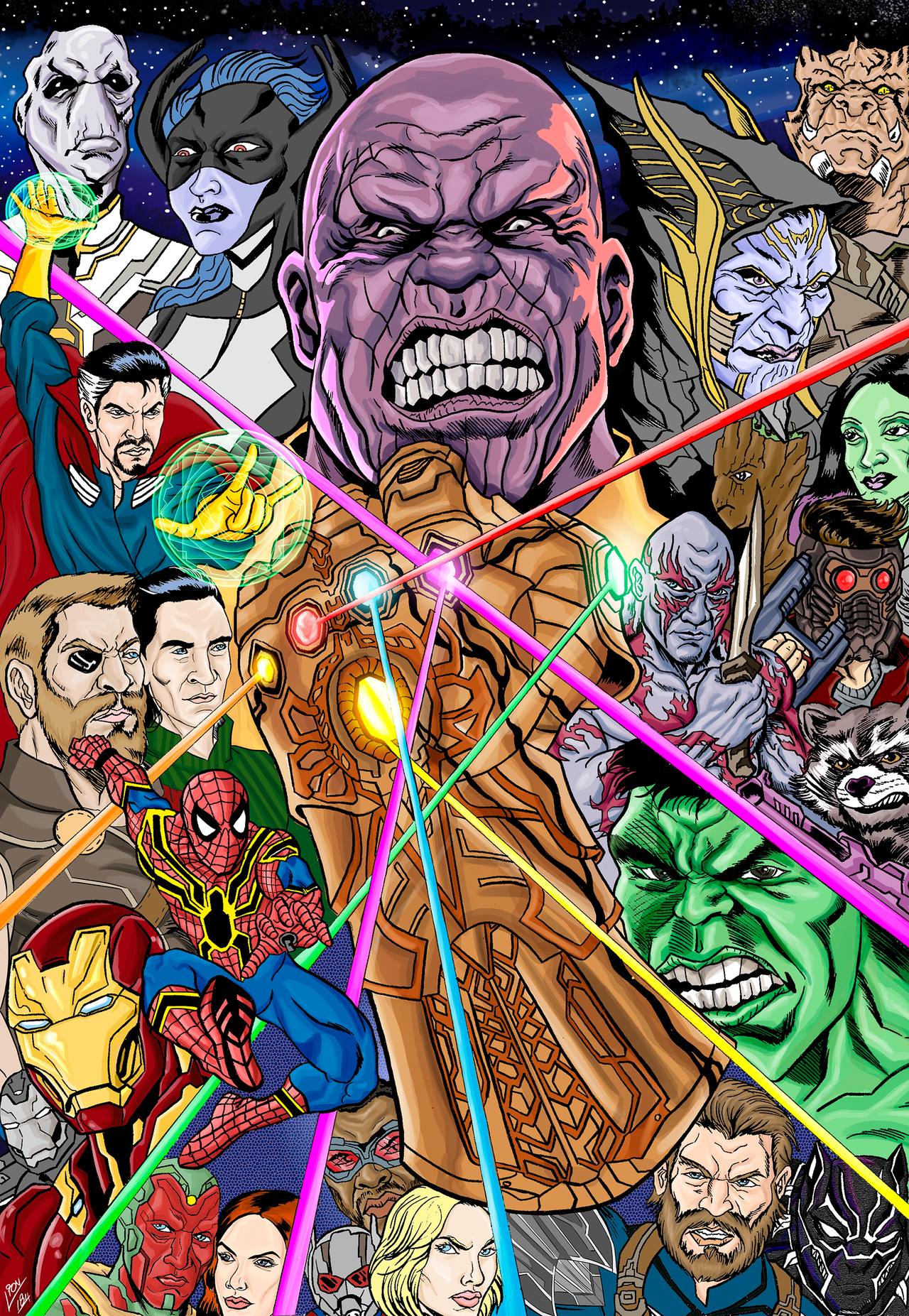 avengers - infinity war | leon sarmento - follow artist on behance