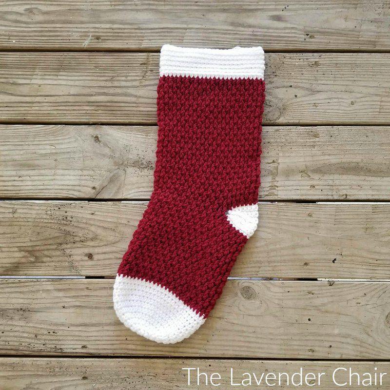 Brickwork Stocking Crochet Pattern - The Lavender Chair | Cool ...