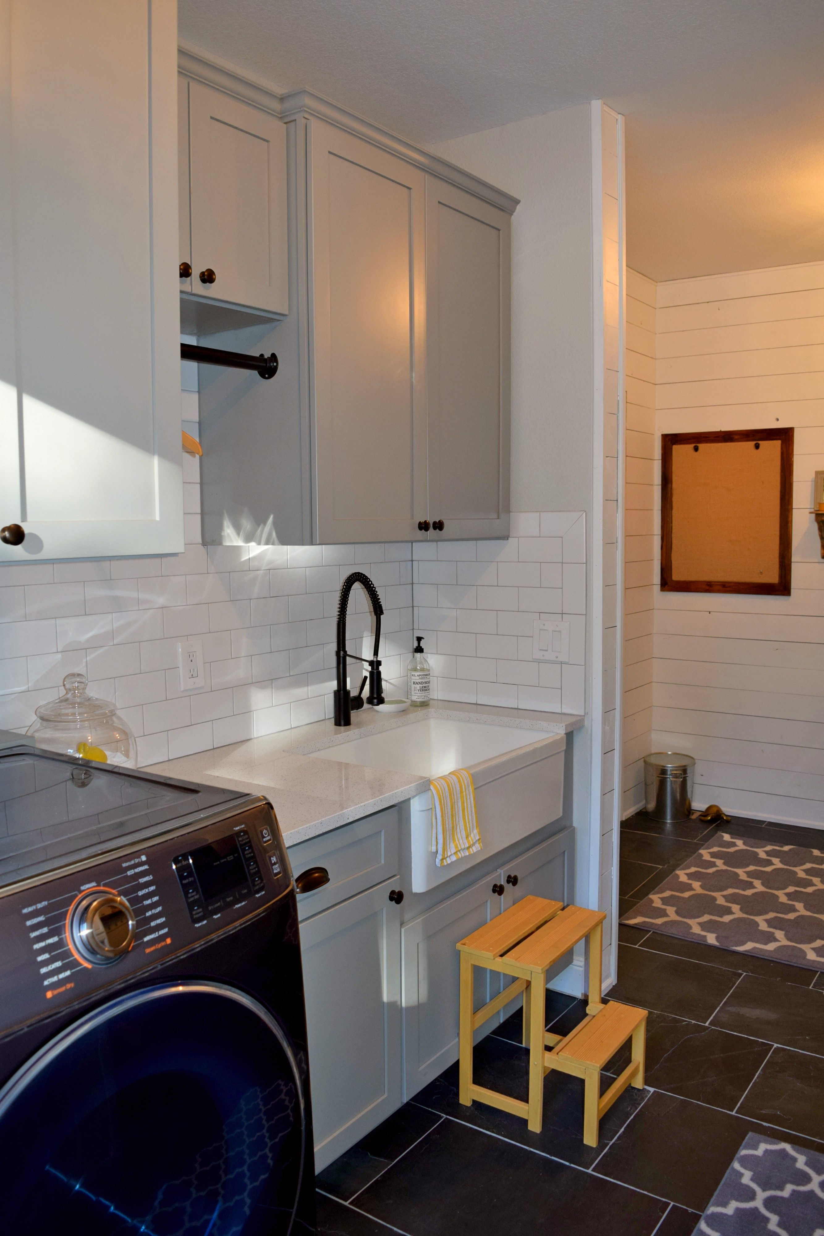BKC Kitchen And Bath Denver Laundry Room Cabinets   Medallion Cabinetry,  Lancaster Door Style, Harbor Mist Sheer On Maple