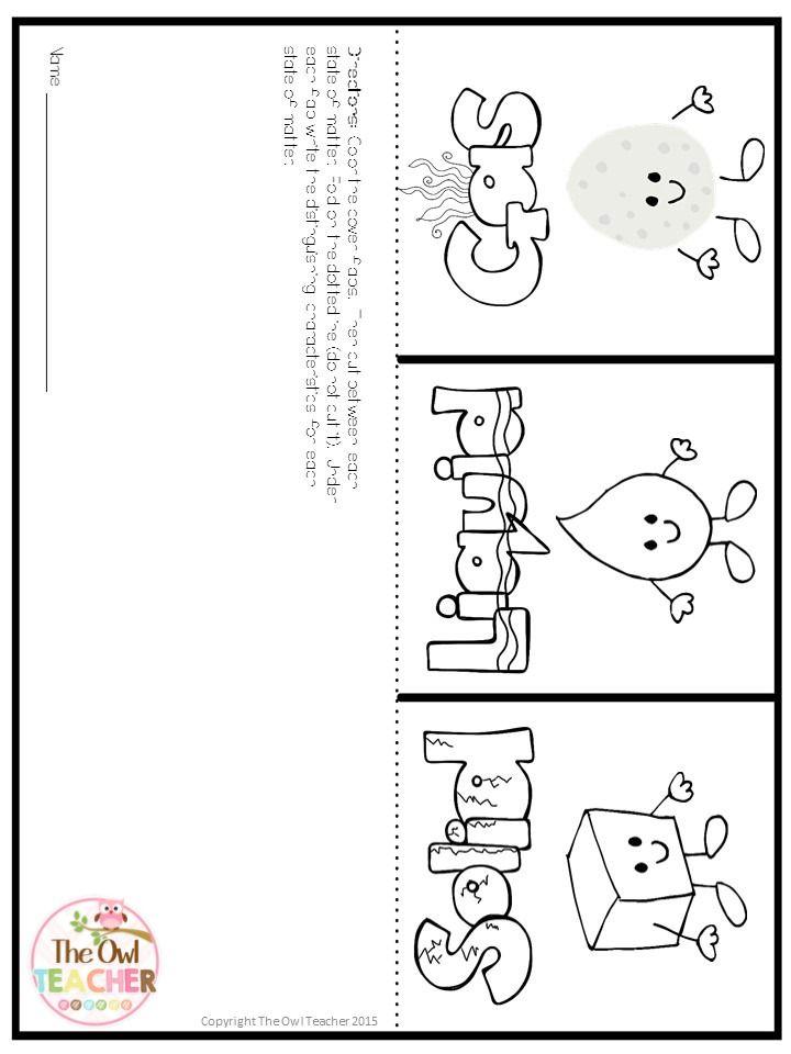 States Of Matter Kindergarten Worksheets
