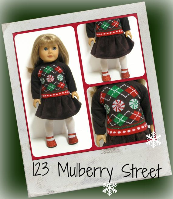American girl doll clothes  Sweater Girls by 123MULBERRYSTREET