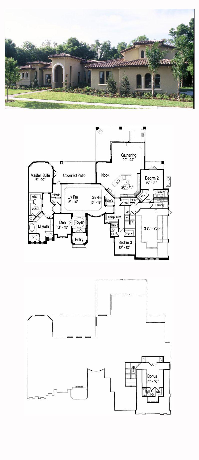 Italian house plan total living area sq ft