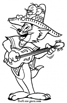 Prinable Tom costumes mexican coloring page - Printable Coloring ...