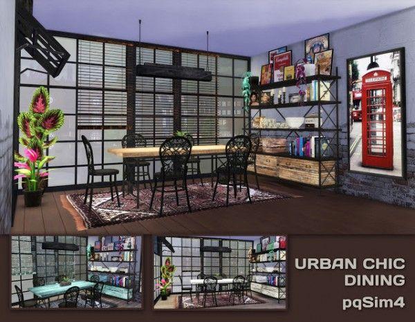 Pqsims4 urban chic diningroom contenido personalizado for Muebles urban chic