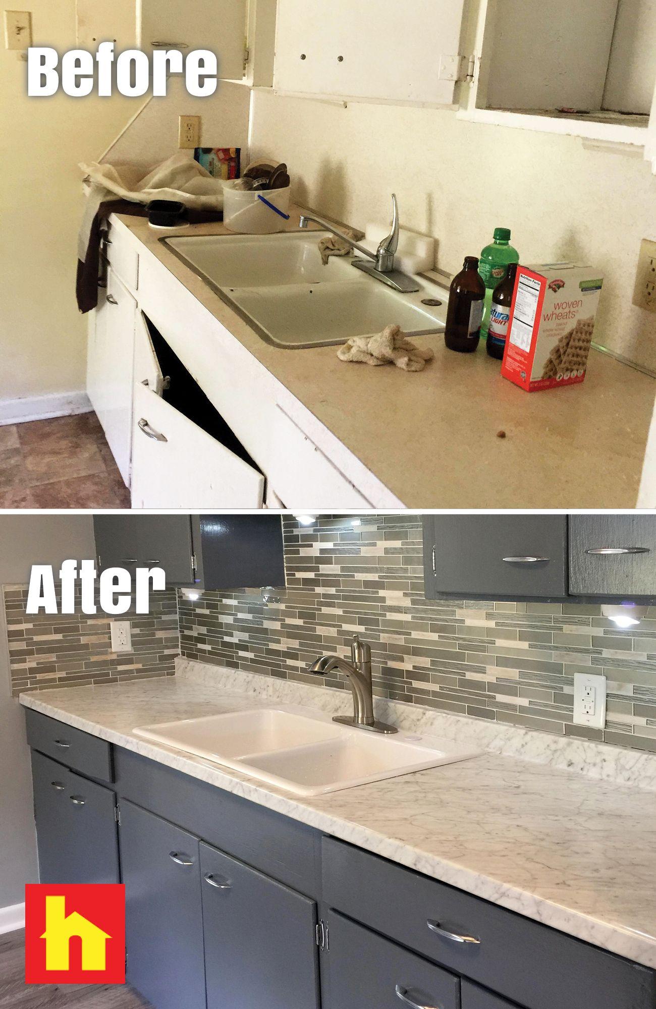Bathroom Remodel By Rich O. Of Durham, NC. Backsplash, Counter And Flooring