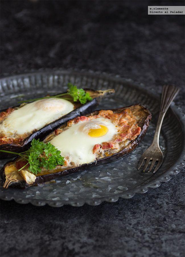 Huevos al nido en berenjena receta receta comida for Cenas faciles y economicas