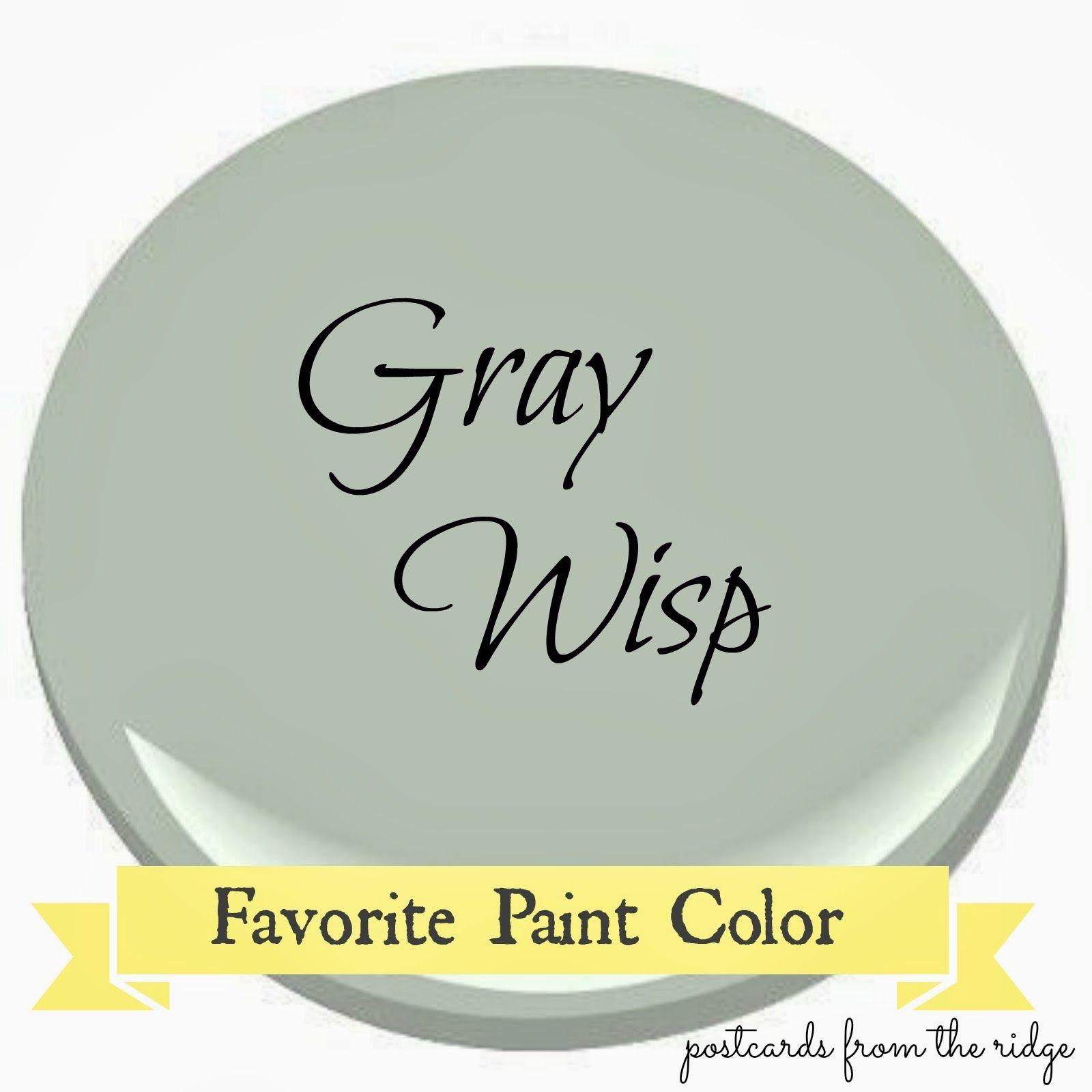 Benjamin Moore Gray Wisp ~ Favorite Paint Color #indoorpaintcolors