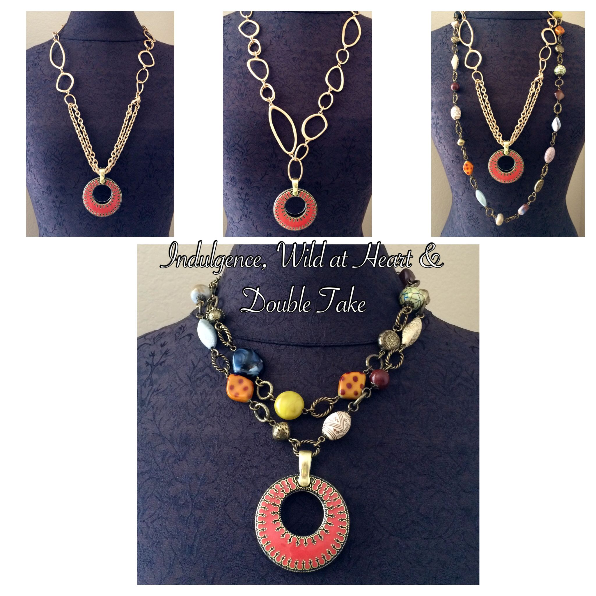 Premier Designs Wild & Heart & Indulgence necklaces and ...