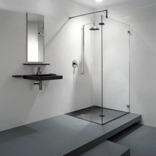 Fraaie wijze van verhoogde douche vloer als afvoer dat vereist - blanchir joint salle de bain