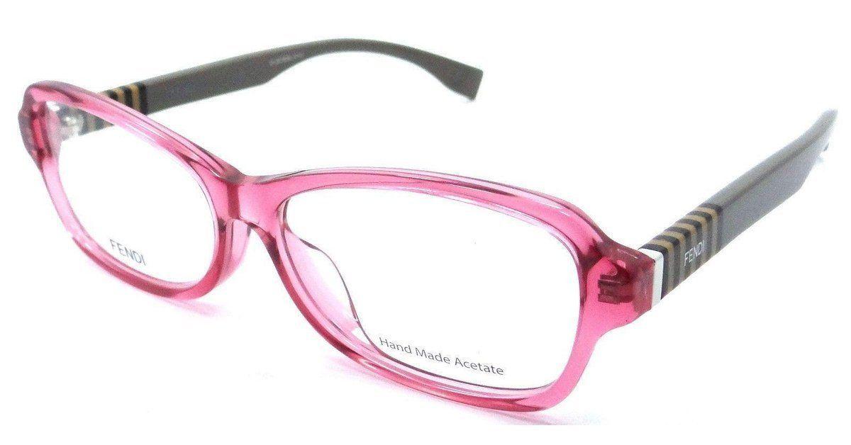 84ef05fc69 Fendi Rx Eyeglasses Frames FF 1004 F 7TV 54-14-140 Cherry Pequin Mud Asian  Fit