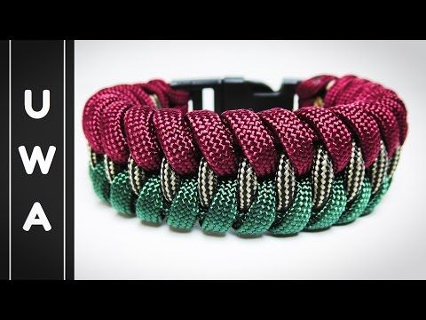 How To Make The Two Color Dragon Teeth Paracord Survival Bracelet