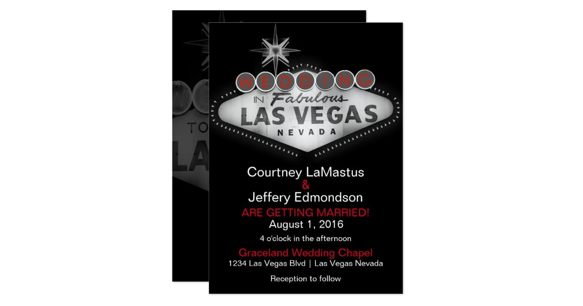 Las Vegas Destination Wedding Invitation | Destination wedding ...