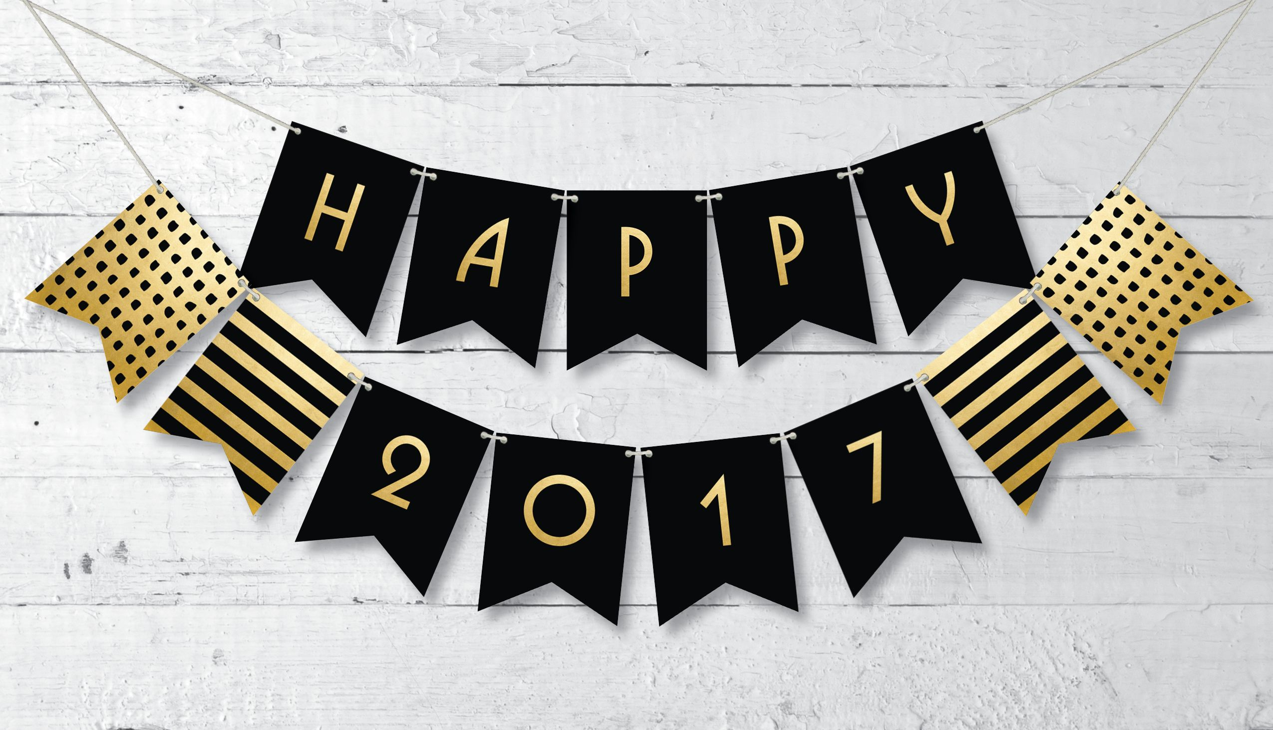 festive it right back up for new years eve in a classy way with this free printable happy 2016 banner