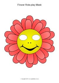Flower Role Play Masks Sb11534 Sparklebox