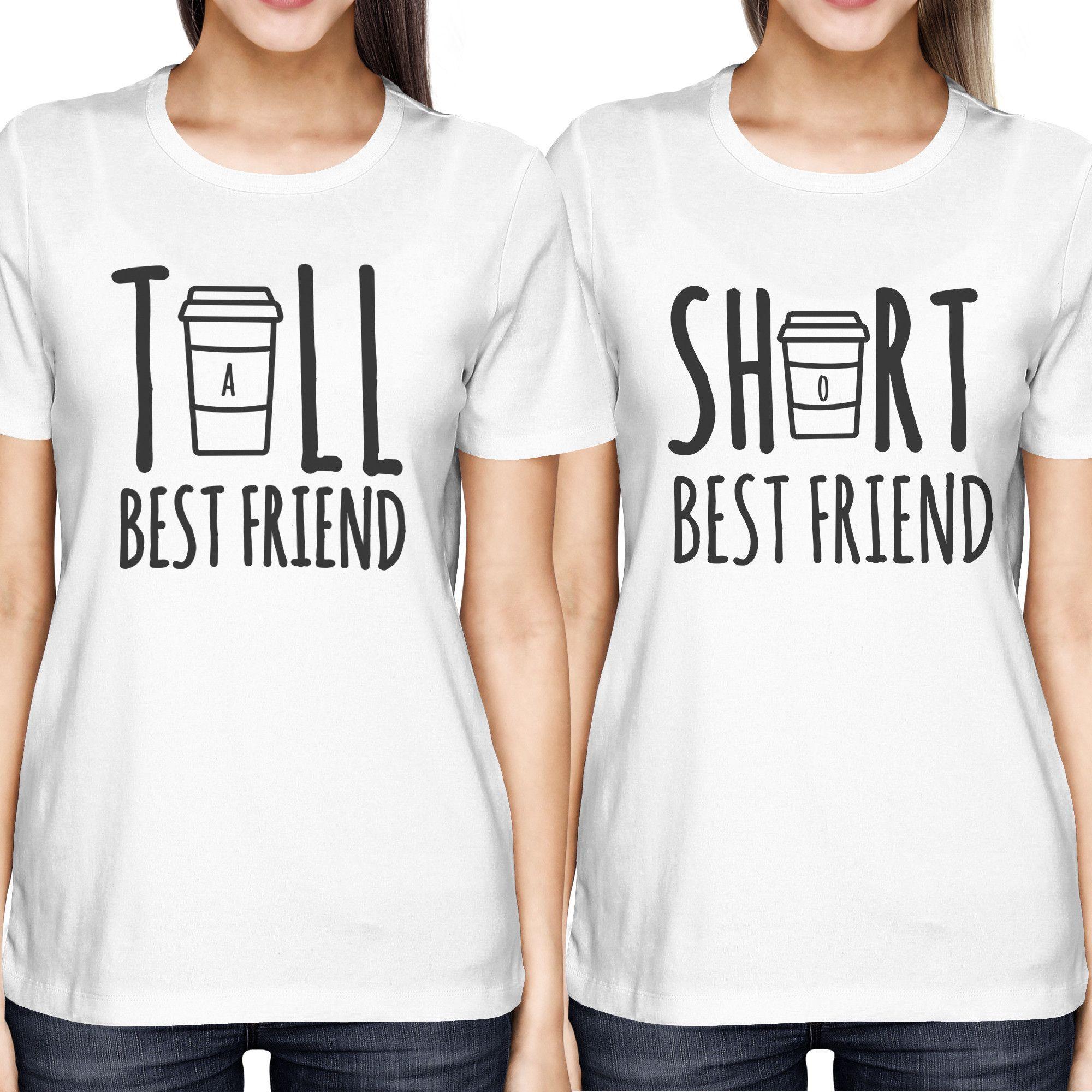33ae5f00a Cute Best Friend Tall and Short Matching TShirt BFF Shirt For Coffee ...