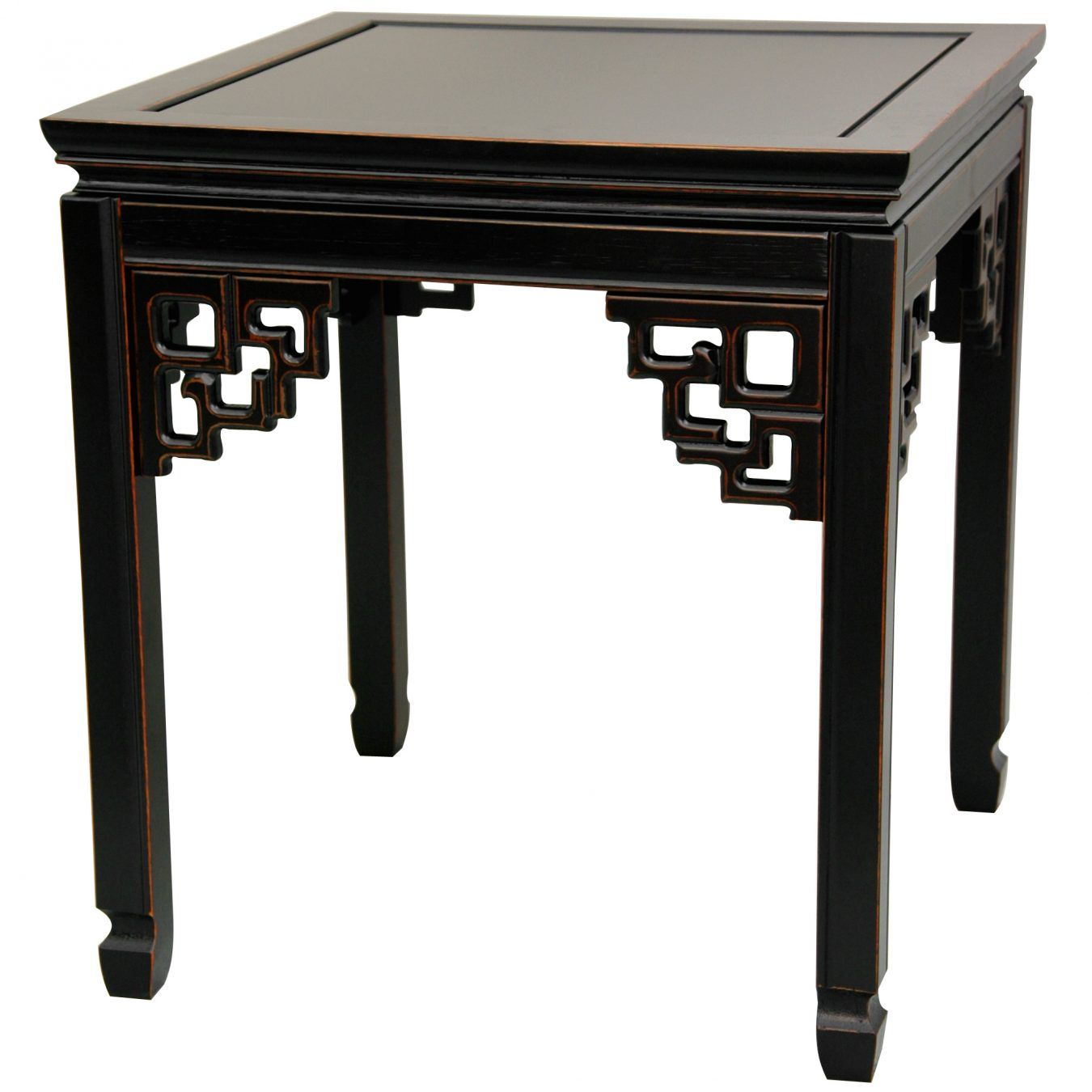 Rosewood Square Ming End Table Antique Black For the Home