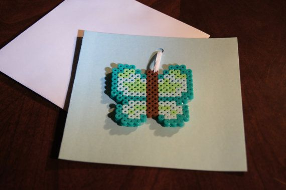 Perler Bead Butterfly any occasion keepsake by TheHouseThatCrafts, $4.00 My very first Perler!!!